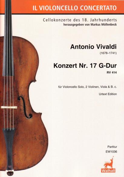 Vivaldi, Antonio (1678–1741): Konzert Nr. 17 G-Dur RV 414 – Partitur
