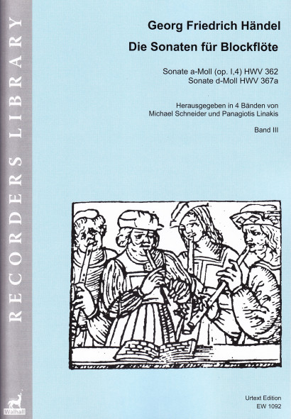 Händel, Georg Fr. (1685–1759):<br>Die Sonaten für Blockflöte<br>Band III