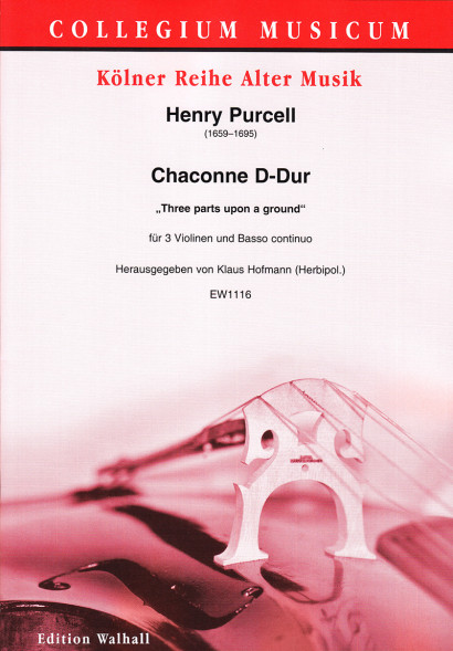 Purcell, Henry (1659–1695): Chaconne D-Dur (Z 731)