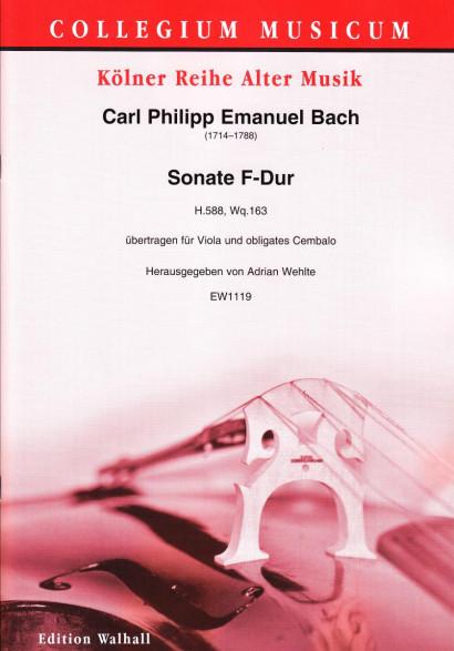 Bach, Carl Philipp Emanuel (1714–1788): Sonata F Major H.588, Wq.163