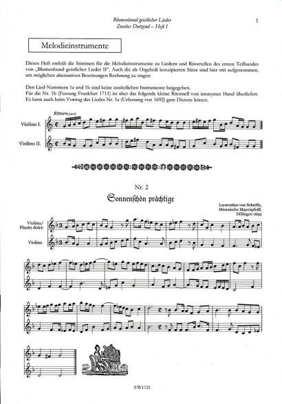 Blumenbund geistlicher Lieder des Barock II: Zweites Dutzend – Teil 1<br>Stimmen