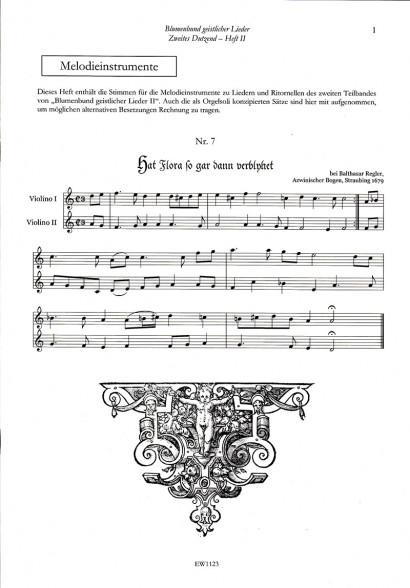 Blumenbund geistlicher Lieder des Barock II: Zweites Dutzend – Teil 2<br>Stimmen