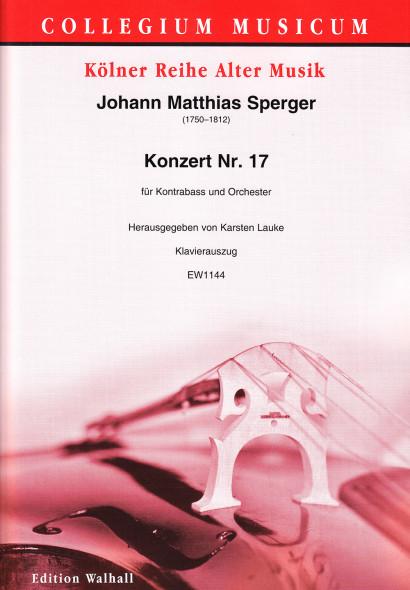 Sperger, Johann Matthias (1750–1812): Konzert Nr. 17