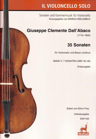Dall'Abaco, Giuseppe Cl. (1710– 1805): Complete Sonatas for Violoncello