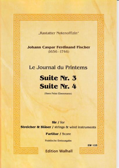 Fischer, Johann Caspar Ferdinand (1656-1746): Journal du Printems - Suiten Nr. 1 - 8 op. 1 - Partitur