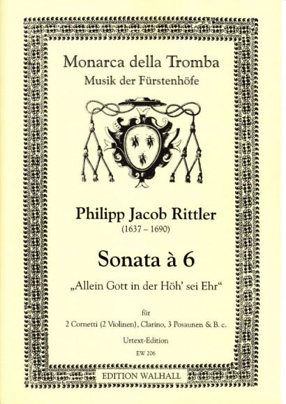 Rittler, Philipp Jacob (1637-1690): Sonata á 6