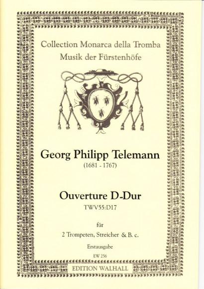 Telemann, Georg Philipp (1681-1767): Ouverture D-Dur - Partitur