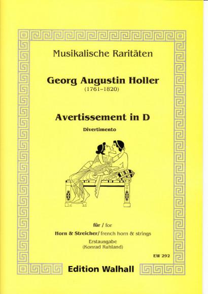 Augustin Holler (1744-1814): Avertissement in D