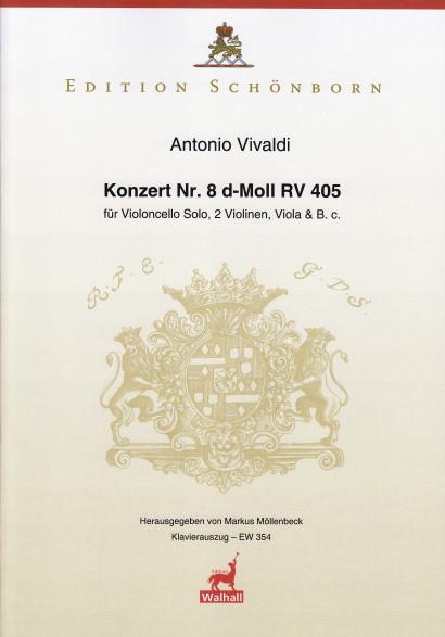 Vivaldi, Antonio: Konzert Nr. 8 d-Moll RV 405<br> –  Klavierauszug