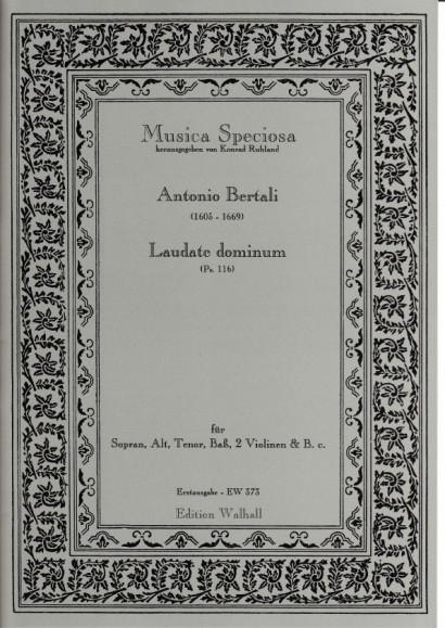 Bertali, Antonio (1605-1669): Laudate Dominum (Ps.116)