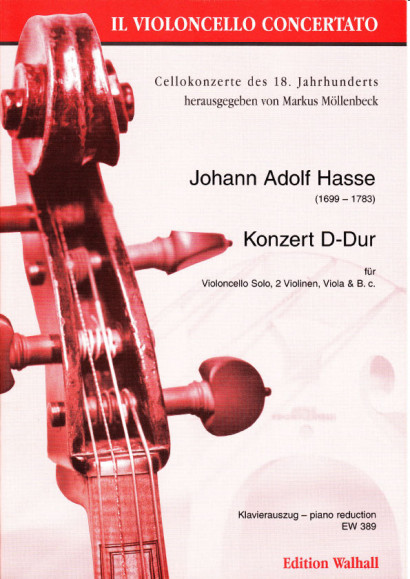 Hasse, Johann Adolph (1699-1783): Konzert D-Dur<br>- piano reduction