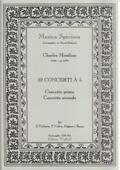 Motta, Artemio (1681-17 ??): (Sig Mouthon.): Concerti I–X op. 1.<br>- Concerto I. & II.