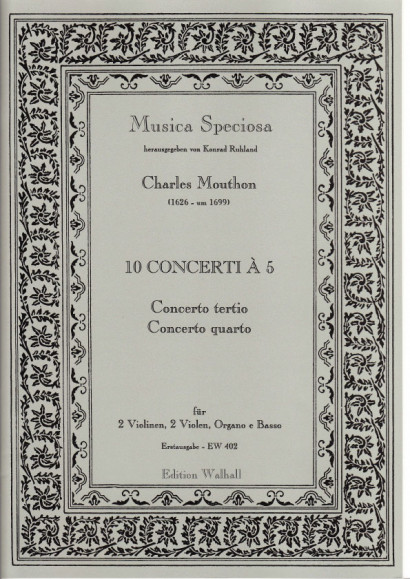 Motta, Artemio (1681-17 ??): (Sig Mouthon.): Concerti I–X op. 1.<br>- Concerto III. & IV