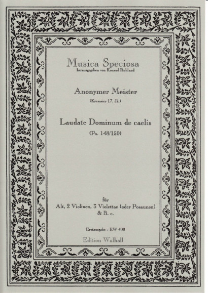 Anonymer Meister (Kremsier 17. Jh.): Laudate Dominum de caelis