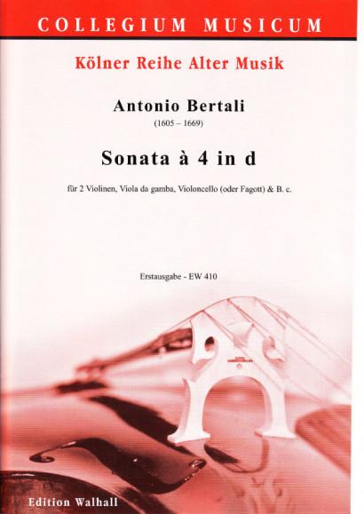 Bertali, Antonio (1605–1669): Sonata à 4 in d