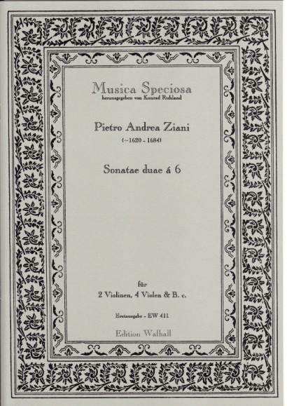 Ziani, Pietro Andrea (~1620-1684): Sonatae duae à 6