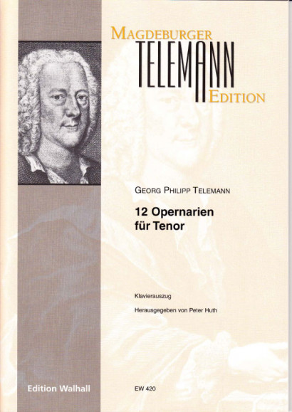 Telemann, Georg Philipp (1681-1767): 12 Opernarien - Bd. 3<br>- für Tenor