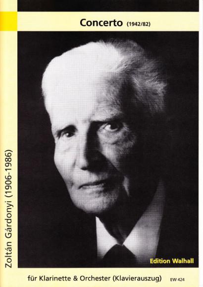 Gardonyi, Zoltan (1906-1986): Concerto<br>- Klavierauszug