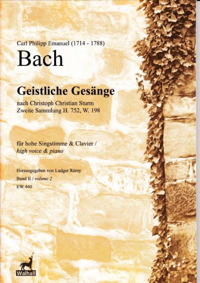 Bach, Carl Philipp E. (1714-1788): Geistliche Gesänge nach Sturm<br>- Volume II