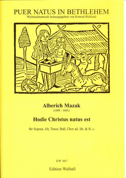 Mazak, Alberich (1609-1661): Hodie Christus natus est