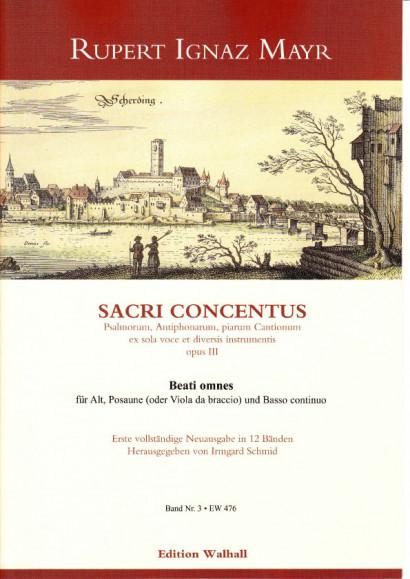 Mayr, Rupert Ignaz (1646-1712): Beati omnes<br>- Volume III