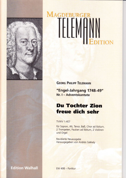 Telemann, Georg Philipp (1681- 1767): Du Tochter Zion freue dich sehr<br>- Partitur