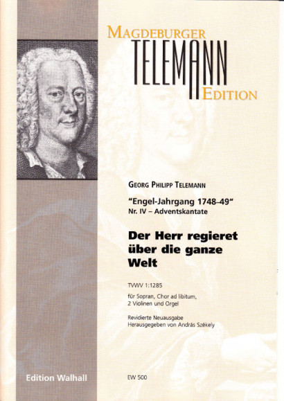 Telemann, Georg Philipp  (1681- 1767): Der Herr regieret TVWV 1:285<br>- score & voice part