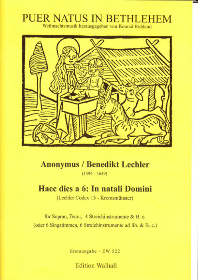 Lechler, Benedikt (1594-1659): Haec dies a 6: In natali Domini