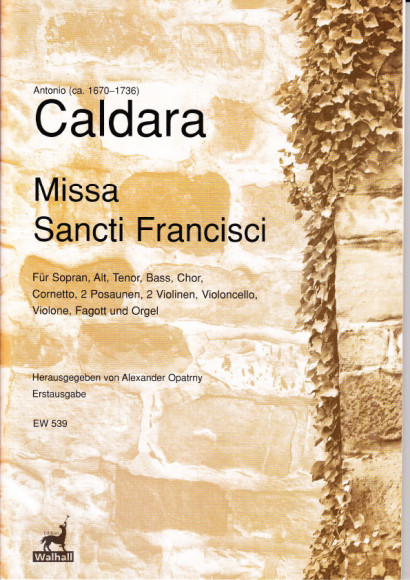 Caldara, Antonio (1670–1736): Missa Sancti Francisci<br>– Set of parts