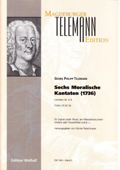 Telemann, Georg Philipp (1681-1767: Moralische Kantaten<br>- Volume II