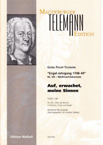 Telemann, Georg Philipp (1681-1767): Auf, erwachet meine Sinnen - Partitur & Stimmen