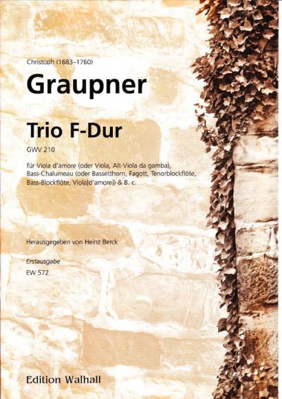 Graupner, Christoph (1683-1760): Trio F-Dur