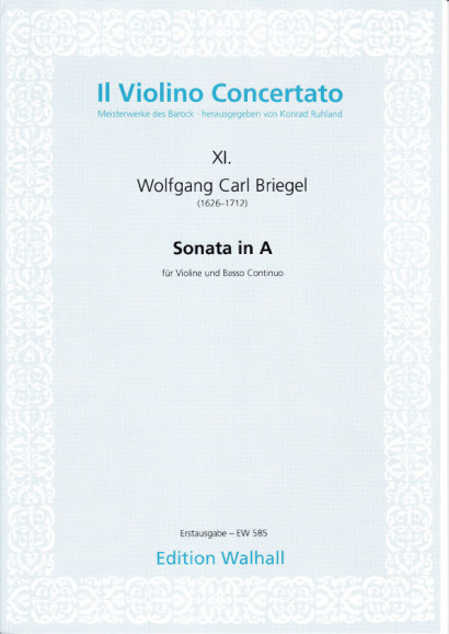 Briegel, Wolfgang Carl (1626-1712): Sonata in A