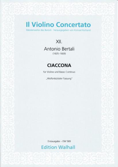 Bertali, Antonio (1605–1669): Ciaccona in C