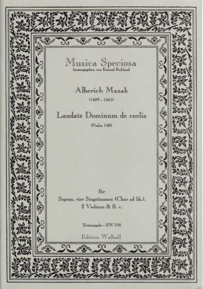 Mazak, Alberich (1609–1661): Laudate Dominum de coelis