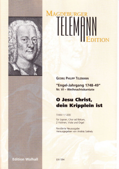 Telemann, Georg Philipp (1681–1767): O Jesu Christ, dein Kripplein<br>- score & parts