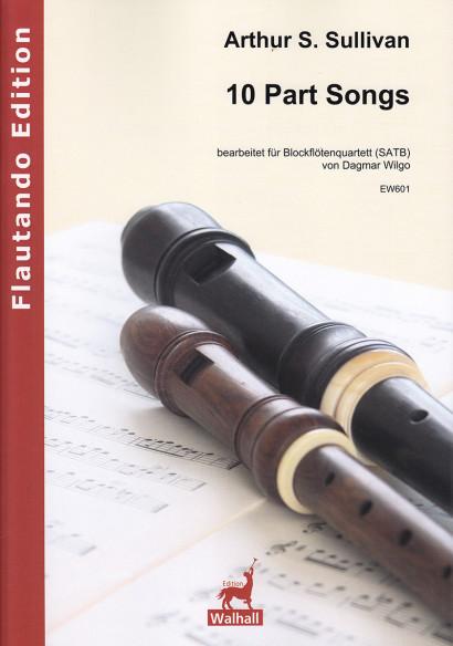 Sullivan, Arthur S. (1842–1900): 10 Part Songs<br>– Partitur & 4 Stimmen
