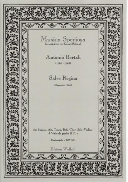 Bertali, Antonio (1605-1669): Salve Regina<br>- Partitur