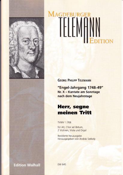 Telemann, Georg Ph. (1681-1767): Herr, segne meinen Tritt<br>- score & parts