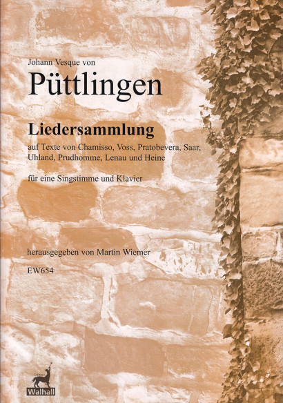 Püttlingen, Johann Vesque von (1803–1883): Collection of songs