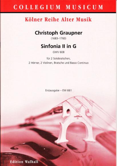 Graupner, Christoph (1683–1760): Sinfonia II in G – Partitur