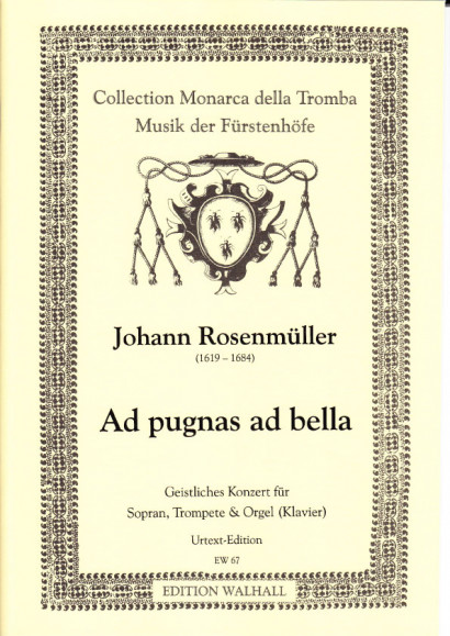 Rosenmüller, Johann (1619–1684): O felicissimus paradysi aspectus - set of parts without solo parts