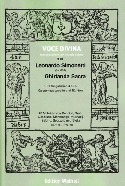 Simonetti, Leonardo (?–1631): Ghirlanda Sacra - Band III