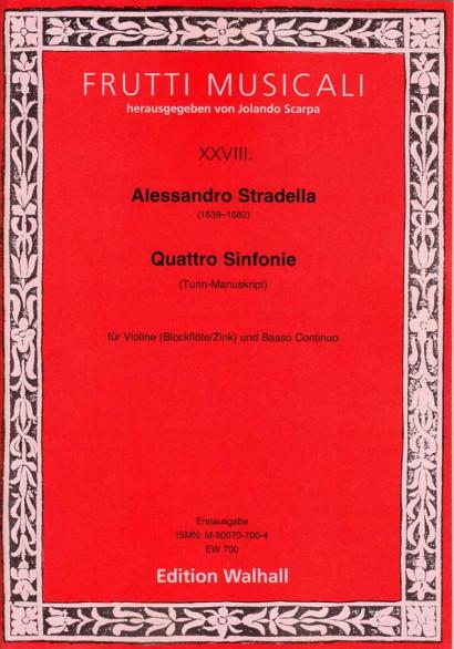 Stradella, Alessandro (1639–1682): Sinfonia a Violino solo e Basso – Volume 2 (Turin, 4 sinfonias)