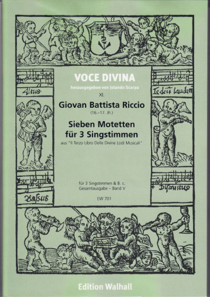 Riccio, Giovan B. (16.-17. Jh.): Motetten für 3 und 4 Singstimmen<br>- Seven 3-part motets