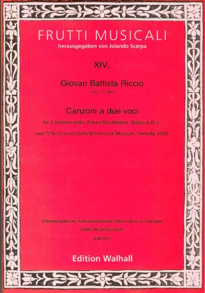 Riccio, Giovan Battista (16.-17. Jh.): Canzonen und Sonaten<br>- Volume II