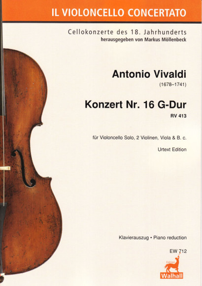 Vivaldi, Antonio (1678–1741): Concert No. 16 G-Major RV 413<br>– Piano reduction