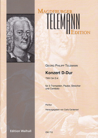 Telemann, Georg Philipp (1681–1767): Konzert D-Dur TWV 54:D4<br>– Piano/Organ reduction