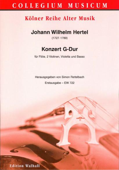 Hertel, Johann Wilhelm (1729-1789): Konzert G-Dur<br>- Partitur