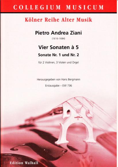 Ziani, Pietro Andrea (~1620-1684): Vier Sonaten à 5 aus op. 7<br>- Sonaten Nr. 1 & 2